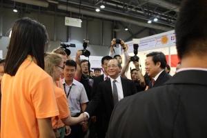 Der chinesische Vizepräsident besucht unseren Stand; Quelle: KP Haupt