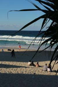 Der Strand von Surfers Paradise an der Goldcost