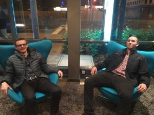 Sessel-Probesitzen mit dem Moritz in der Lounge