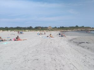 Strand mit Personen
